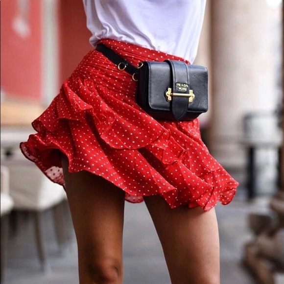 93fd4bf01 & Other Stories Skirts | Paris Atelier Other Stories Red Frills Mini ...
